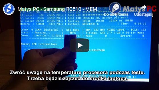 Diagnoza pamięci RAM plus czyszczenie [youtube]