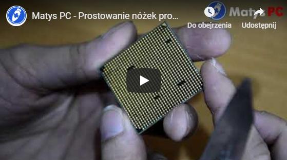 Prostowanie nóżek procesora AMD Phenom [youtube]