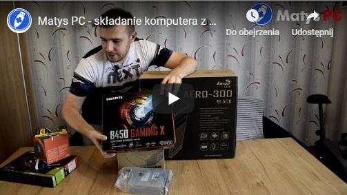 Składanie komputera z Ryzen 2600, GTX 1660, 16GB RAM, MX500 SSD 500GB, B450 GAMING X [youtube]